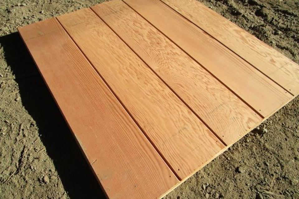 Recycled Oregon Douglas Fir For Lining Furniture Timbers